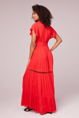 All You Need Is Love Red Maxi Dress Back