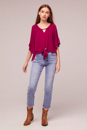 Amethyst Fuchsia tie Front Top Master