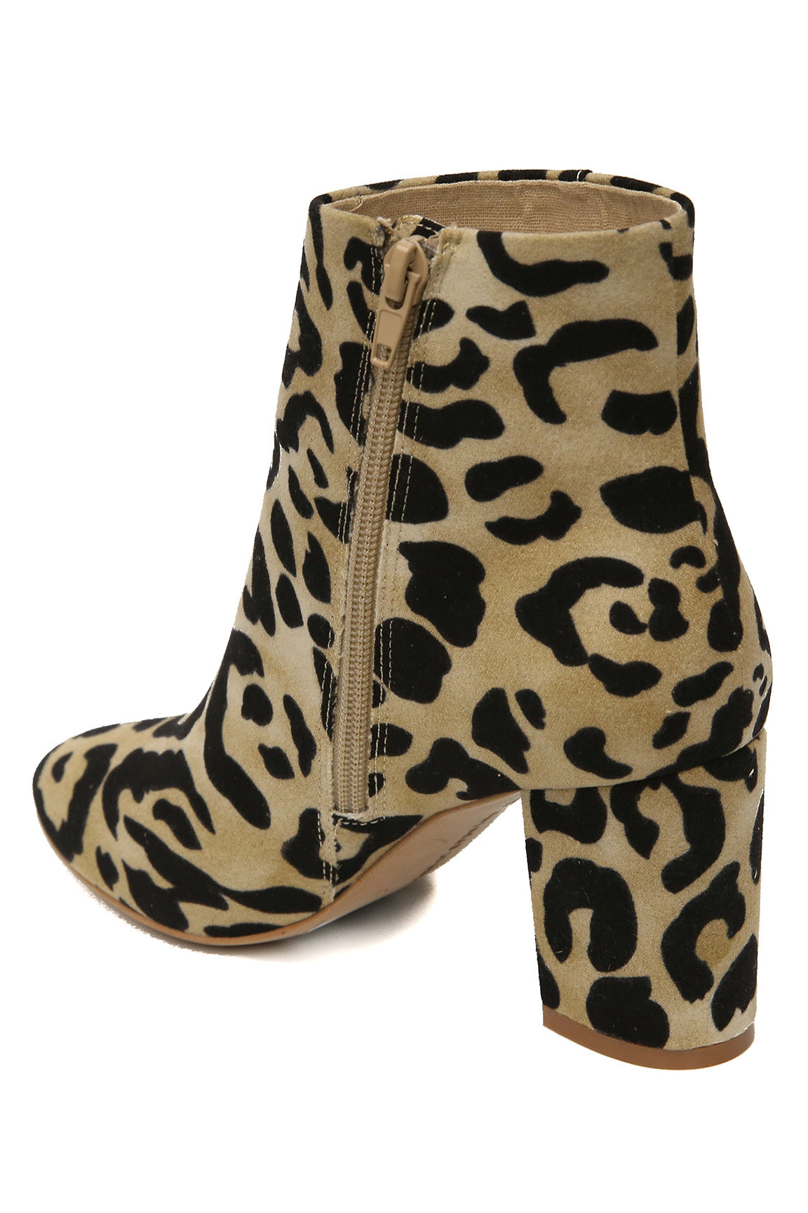 pretty cool cheap pretty cheap Andrea Micro Suede Leopard Print Vegan Booties - Band of Gypsies