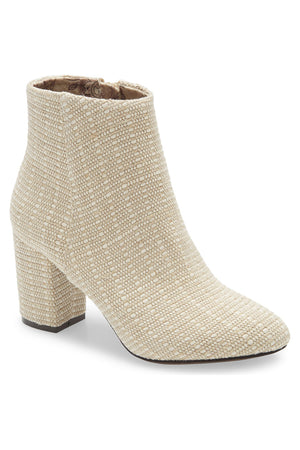 Andrea Natural Woven Canvas Vegan Booties Master