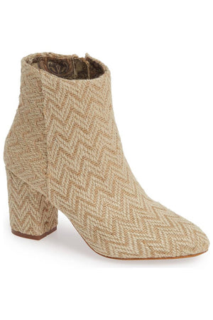 Andrea Sand Jute Woven Vegan Ankle Booties Master
