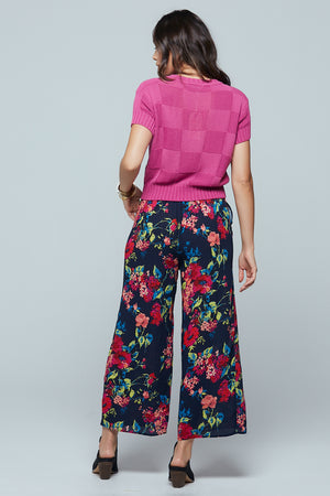 Angel Falls Floral Wide Leg Pants Back2