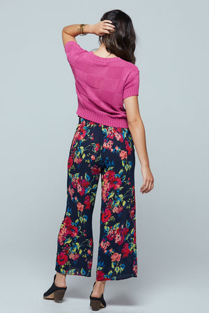 Angel Falls Floral Wide Leg Pants Back