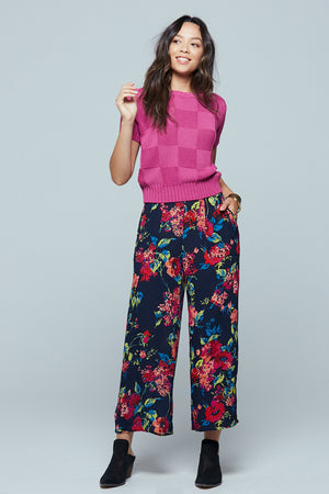 Angel Falls Floral Wide Leg Pants Detail