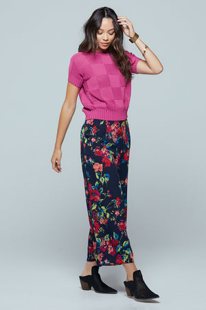 Angel Falls Floral Wide Leg Pants Side