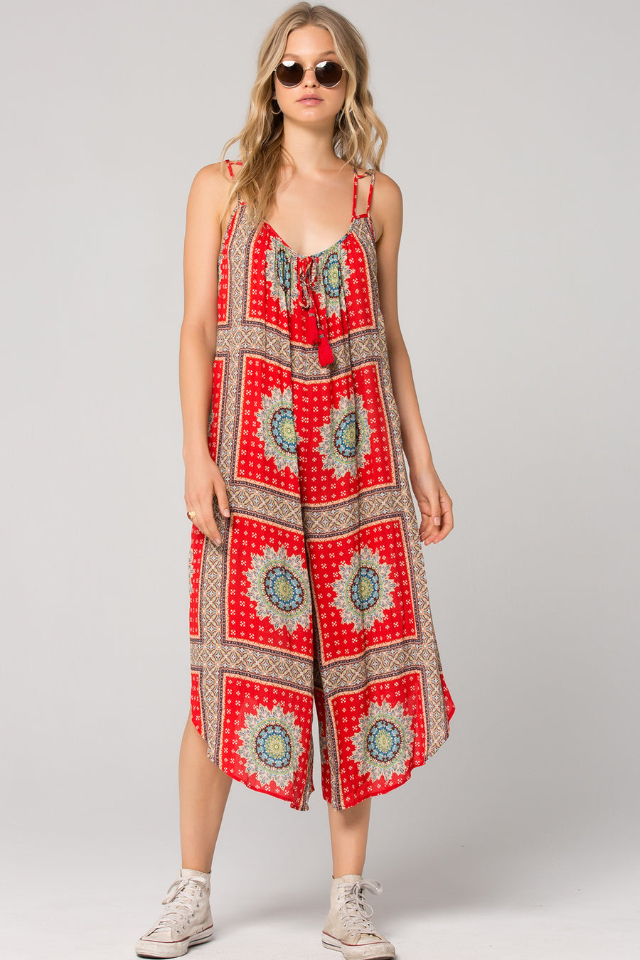 Athens Medallion Scarf Print Jumpsuit Master
