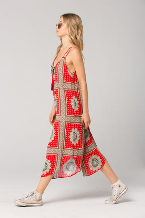 Athens Medallion Scarf Print Jumpsuit Side