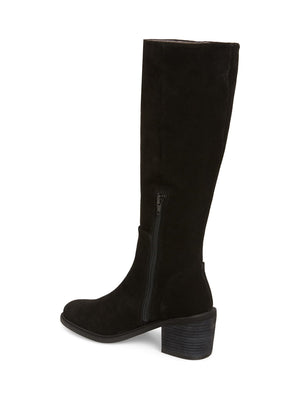 Avon Black Suede Tall Boot Back