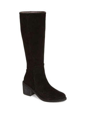 Avon Black Suede Tall Boot