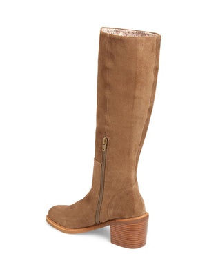 Avon Tan Suede Tall Boot Back