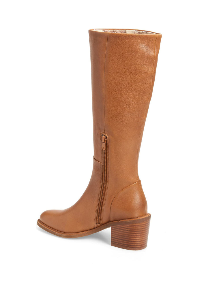 Avon Natural Tall Leather Boot Back