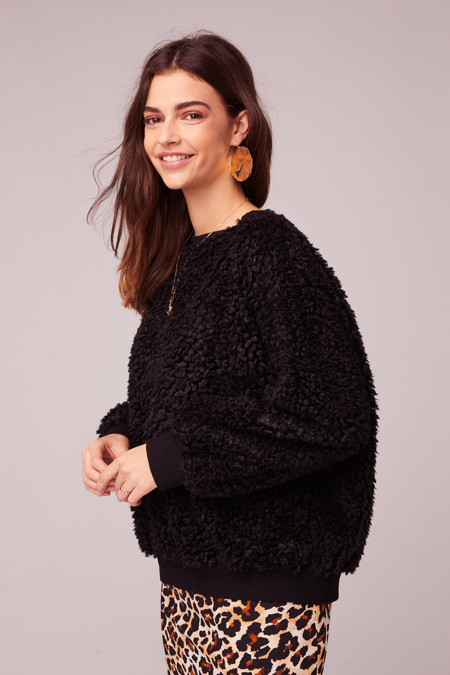 Back In Black Poodle Faux Fur Sweater Master