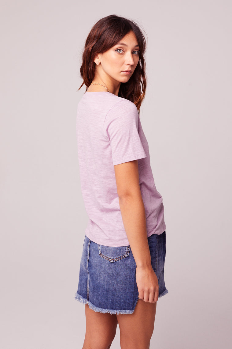 Back to Basic Lavender Tee Side3
