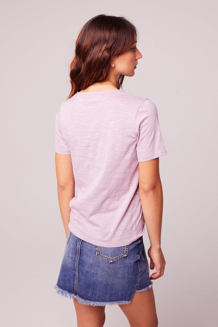 Back to Basic Lavender Tee Back