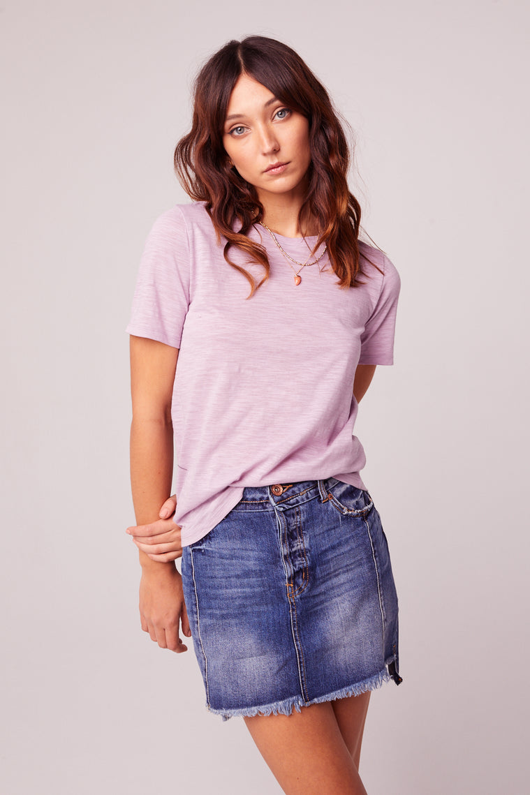 Back to Basic Lavender Tee Front