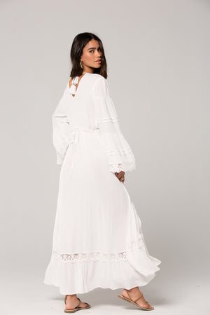 Baja Lace Duster Maxi Dress Back