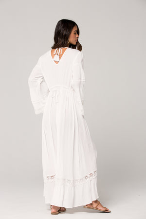 Baja Lace Duster Maxi Dress Back Detail