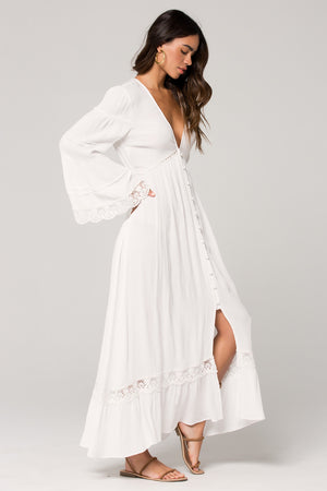 Baja Lace Duster Maxi Dress Side