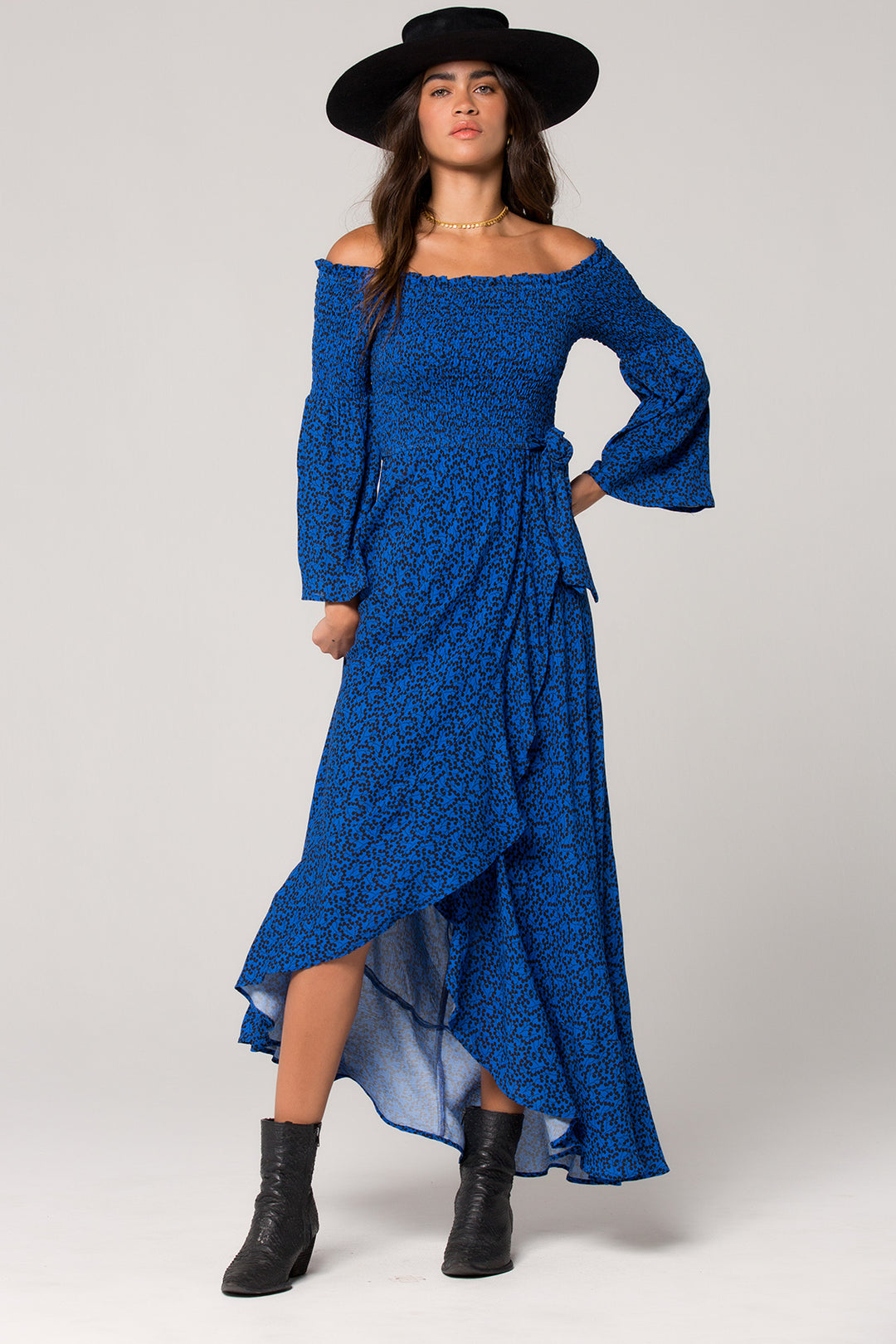 Bali Smocked Royal Blue Maxi Dress Master