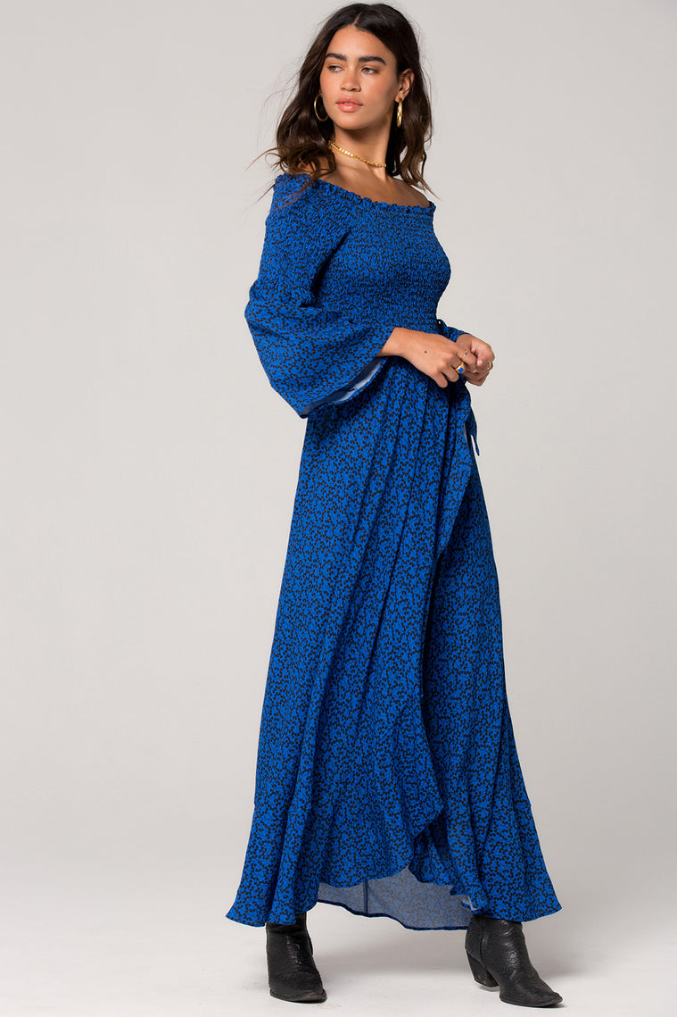 Bali Smocked Royal Blue Maxi Dress Master 2
