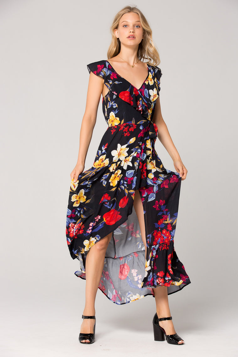 Barcelona Wrap Floral Maxi Dress Master Detail