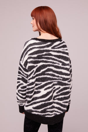 Baxter Zebra Shimmer Sweater Back