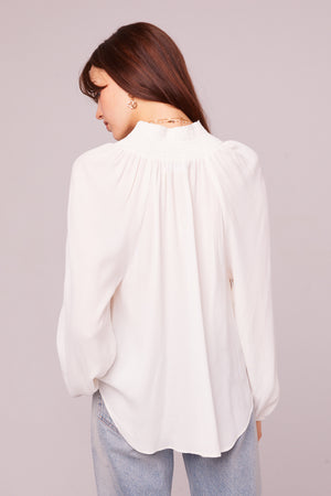 Bay St Ivory Button Up Blouse Back