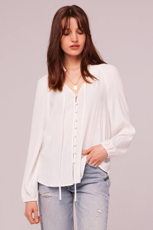 Bay St Ivory Button Up Blouse Master