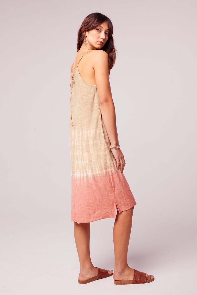 Beach Bound Tie Dye Lace up Sundress BAck2