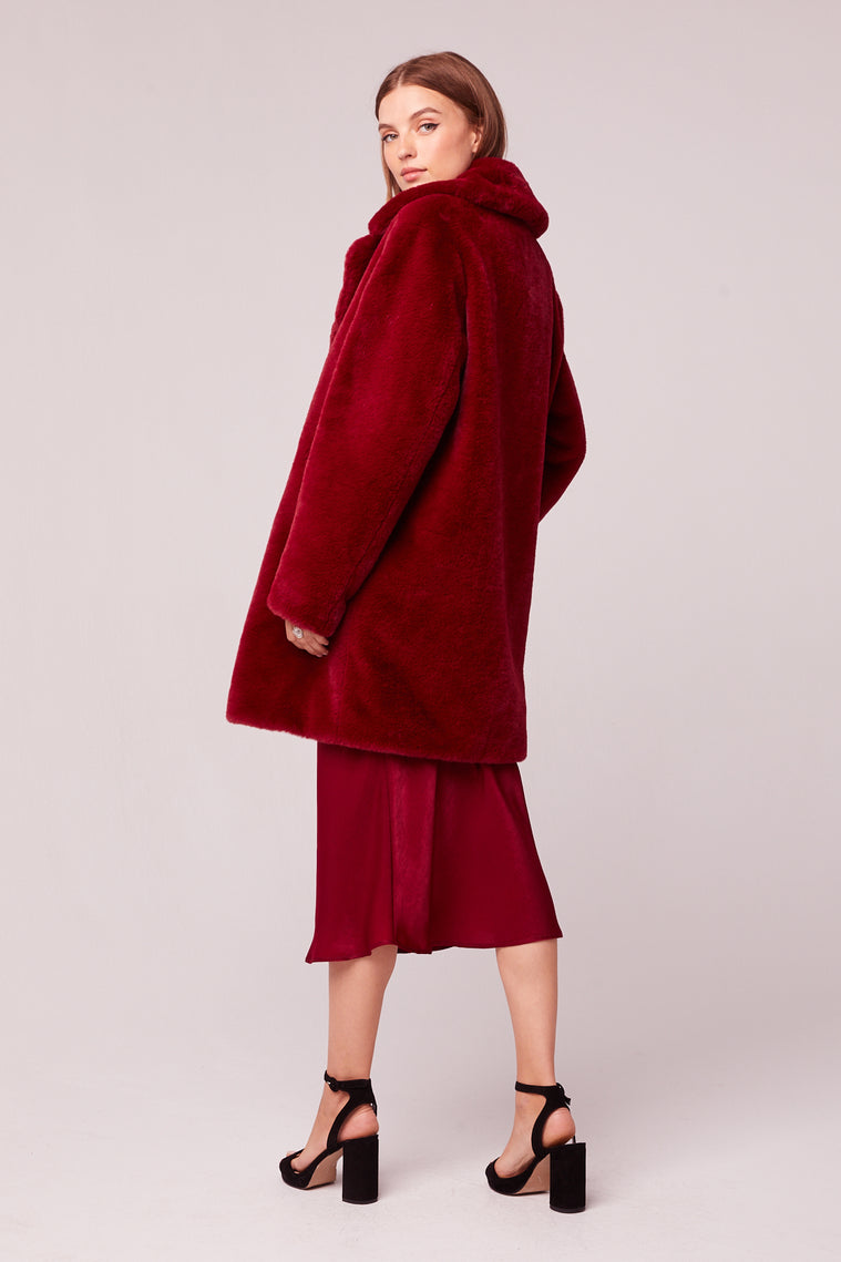 Beau Faux Fur Trench Coat Back