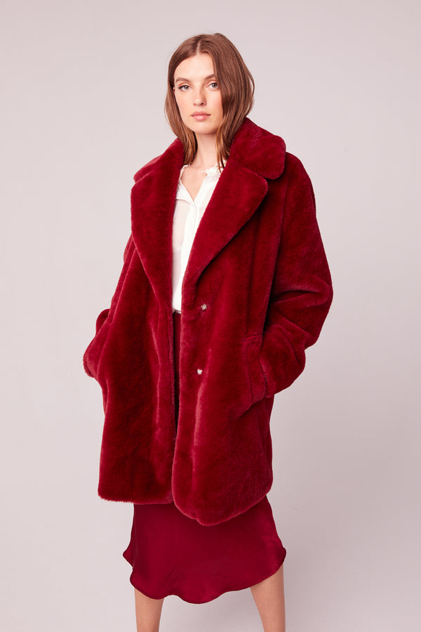 Beau Faux Fur Trench Coat Master