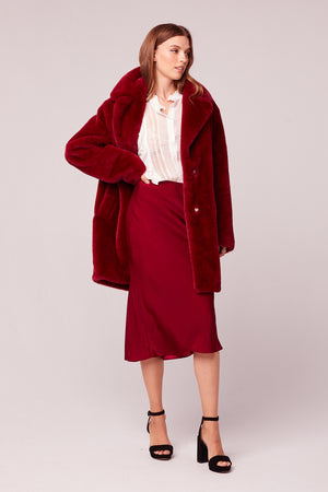 Beau Faux Fur Trench Coat Side