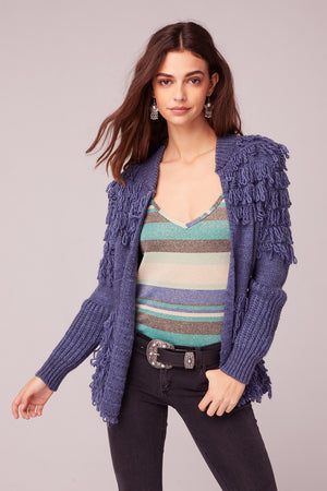 Bennie And The Jets Yarn Fringe Sweater Front