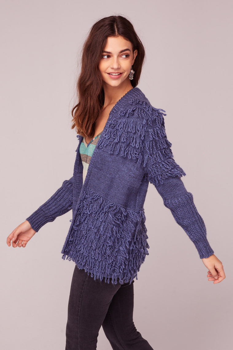 Bennie And The Jets Yarn Fringe Sweater Side