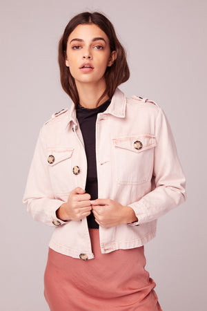 Billie Jean Light Pink Denim Jacket Master