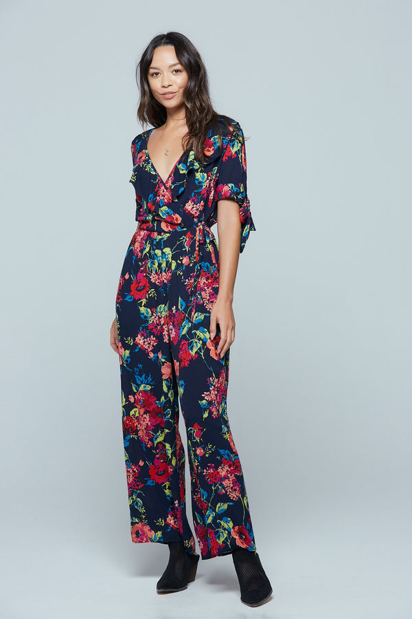 Bimini Islands Floral Tie Sleeve Jumpsuit Master