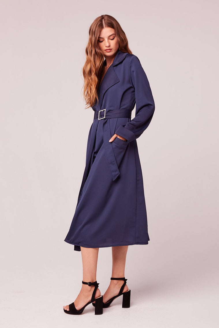 Bonjour Dark Teal Trench Coat