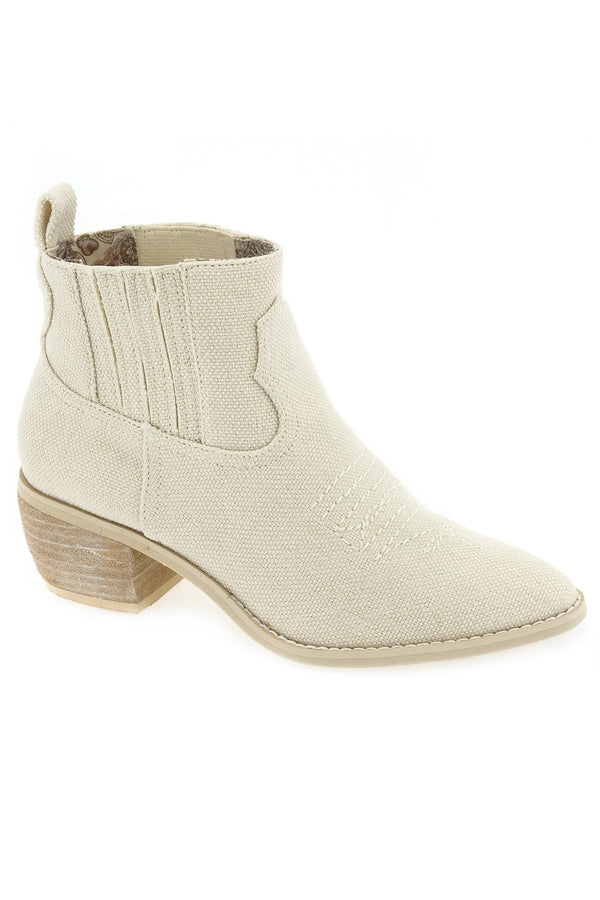 Borderline Linen Canvas Ecru Booties Master