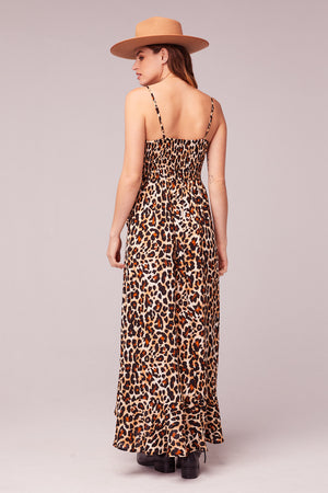 Born To Be Wild Leopard Print Maxi Dress Back