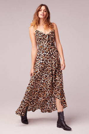 Born To Be Wild Leopard Print Maxi Dress Front