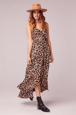 Born To Be Wild Leopard Print Maxi Dress Close