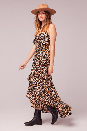 Born To Be Wild Leopard Print Maxi Dress Side