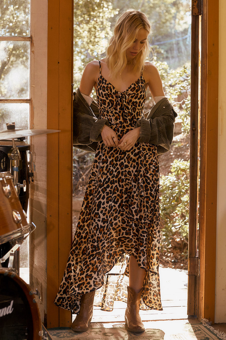 Born To Be Wild Leopard Print Maxi Dress Master