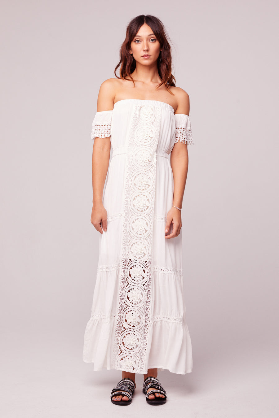 Breeze Off The Shoulder White Lace Dress Master