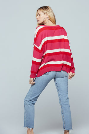 Brentwood Striped Sweater Back