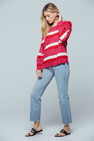 Brentwood Striped Sweater Side