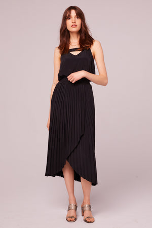 Broadway Pleated Faux Wrap Skirt Master