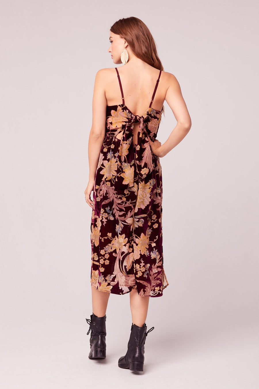 C'est La Vie Velvet Burnout Maxi Dress