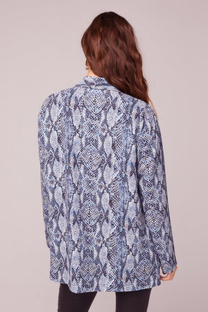 Californication Blue Snake Skin Print Blazer Back