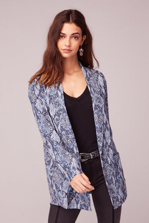 Californication Blue Snake Skin Print Blazer Detail